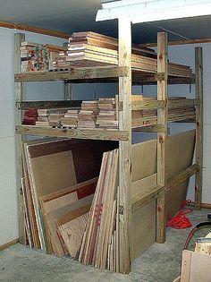 lumber storage rack construction 02 Holzaufbewahrung in der Garagge oder im Keller Blum. Lumber Storage Rack, Wood Storage Rack, Lumber Rack, Shed Storage, Tool Storage, Garage Storage, Storage Cart, Wood Rack, Workshop Design