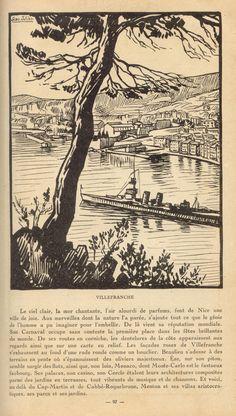 Villefranche vintage illustration