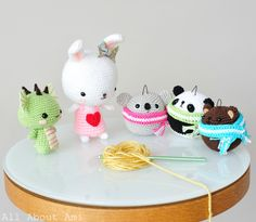 Dragon, Sweetheart Bunny, and the Teddy Ornaments (who would be just as cute as non-ornaments as well :D)!