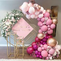 🌸The perfect shades of pink and wildberry for this bridal shower! 🌸 Props and silk flowers Balloons Birthday Balloon Decorations, Bridal Shower Decorations, Birthday Balloons, Birthday Parties, Wedding Decorations, Themed Parties, Bridal Shower Balloons, Wedding Balloons, Balloon Backdrop