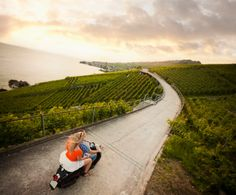 View top-quality stock photos of Couple Riding Scooter In Vineyard. Find premium, high-resolution stock photography at Getty Images. Blend Images, Day And Time, Vineyard, Places To Go, Country Roads, Ocean, Stock Photos, Vacation, Couple Photos
