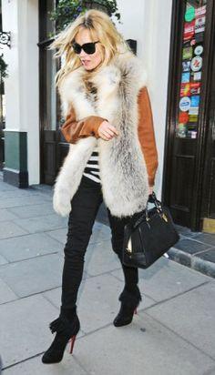 gilet di pelliccia, fashion outfit, moda donna, inverno 2013-2014, pelliccia ecologica http://www.pensorosa.it/trends/come-abbinare-il-gilet-di-pelliccia.html