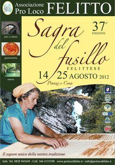 """37a edizione della """"Sagra del Fusillo Felittese"""" dal 14 al 25 Agosto 2013"""