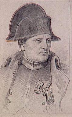 dessin du portrait de napoleon 1er en buste & uniforme