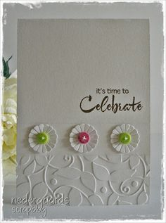 Simple white celebration card with pops of colour!