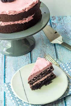 Chocolate Beet Cake with Blackberry Buttercream   stetted