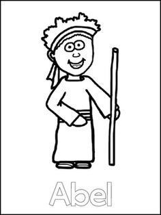 Cain and Abel Printable Color Sheets. Preschool Bible