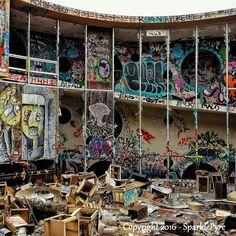 Abandoned Photography - Sage Hall - 5 x 5 Matte Print - Abandoned Barracks…