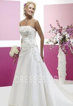 Cheap wedding dress, Buy Quality train wedding dress directly from China wedding dress 2017 Suppliers: Custom Made A-line strapless sequin embroidery beads chapel train wedding dresses 2017 Wholesale Wedding Dresses, Bridal Dresses Online, Wedding Dress Train, Affordable Wedding Dresses, 2015 Wedding Dresses, Cheap Wedding Dress, Bridal Gowns, Wedding Gowns, Dresses 2014