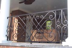 Raleigh wrought iron fence