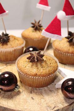 Treurosa Weihnachtsmuffins mit schöner weihnachtlicher Dekoration  I Backblog I Food I Foodblog I baking I bake I bakery I Cupcakes I Muffins I Weihnachtsmuffins I Christmas Bakery I Christmas Cupcakes I Cinnamon