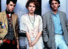 In the film 'Pretty in Pink,' Andie (Molly Ringwald) was originally supposed to end up with the Duckie character (Jon Cryer, L) but test audiences were rooting for her to get the more handsome Blane (Andrew McCarthy, R). Best Teen Movies, Good Movies, 80s Movies, 1980s Films, Netflix Movies, Iconic Movies, Comedy Movies, Pretty In Pink, Rosa T Shirt
