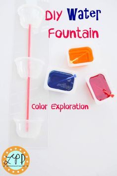 Water Fountain Color Mixing Kid Activity | A Little Pinch of Perfect