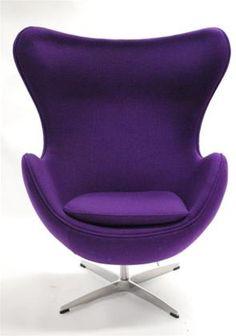 Purple Love, All Things Purple, Shades Of Purple, Purple Stuff, Pink Desk Chair, Egg Chair, Desk Chairs, Lounge Chairs, Purple Furniture