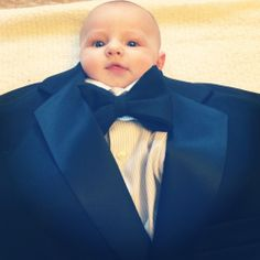 babies in mens suits.