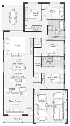 home layout plans 800022321277840554 - Alpine Villa Display Home – Advantage Floor Plan Source by Pabloescobarbe Model House Plan, 4 Bedroom House Plans, House Layout Plans, Floor Plan Layout, Dream House Plans, House Layouts, Small House Plans, House Floor Plans, House Construction Plan