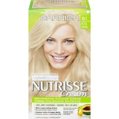 Shop for Nutrisse Cream Permanent Hair Colour by Garnier Blonde Color, Hair Colour, Hair A, Your Hair, Dyed Blonde Hair, Permanent Hair Color, 8 Weeks, Luxury Beauty, Seed Oil