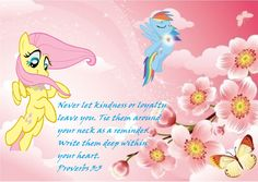 Fluttershy  Proverbs 3:3 my little pony