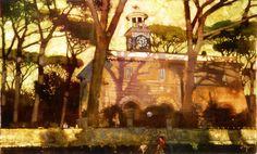 Bernard, Fuchs:  Pines in Borghese Gardens,Rome/パインズ イン ボルゲーゼ ガーデン ローマ/42×68cm/ジクレ