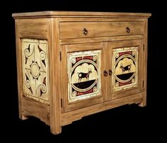 Soutwest Style Painted Furniture | Pueblo Buffet: Southwest Furniture, Santa  Fe Style: Southwest