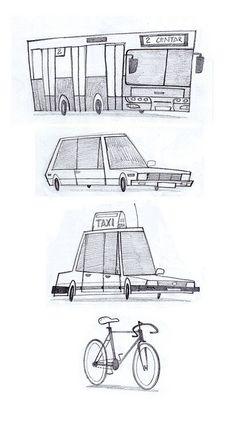 I like drawing cars. by Aleksandar Stojsic, via Flickr
