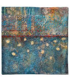 Composition XI  Mixed media: acrylic paint on stitched textile Deidre Adams