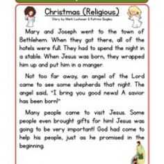 Christian Christmas Reading Comprehension Worksheet. This Reading Comprehension Worksheet is for teaching and learning about Christian Christmas.