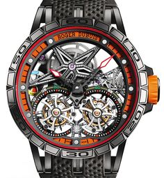 Roger Dubuis launches the new Excalibur Spider Double Flying Tourbillon. A 28-piece limited edition with bold colors inspired by the racing and supercar world.