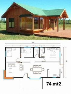 You don't necessarily have to build your house in the style that's prominent in your region. Therefore, in case you have got a new house or an apartme. Tiny House Cabin, Dream House Plans, Small House Plans, House Floor Plans, Town Country Haus, Building A Shed, Building Plans, Cabins And Cottages, Small House Design
