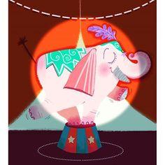 Equilibrium #illustration #illustrations #illustratorsoninstagram #artoftheday #digitalart #art #photoshop #colors #cartoon #childrenillustration #childrenillustrators #elephant #circus #funny #equilibrio #characterdesign