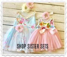 Sister Easter Dresses Birthday Girl Dress Ideas for Girls and Toddlers, 2 year old birthday party ideas #eastersister
