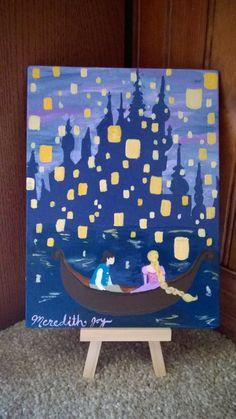 Disney Drawing I See the Light, Rapunzel Painting, Disney Artwork, Tangled Lantern Painting, Custom Disney Canvas Paintings, Disney Canvas Art, Disney Artwork, Cute Paintings, Mini Canvas Art, Diy Canvas, Disney Drawings, Canvas Board, Drawing Disney