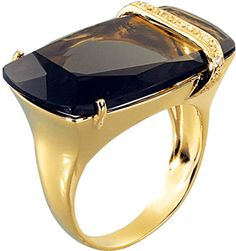 "This ring makes the most of the ""Perfume"" cut with a tilted table by Manoel Bernardes, New York City. (=)"