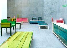 Japanese architect Jo Nagasaka developed a range of resin and wood furniture for Established & Sons.