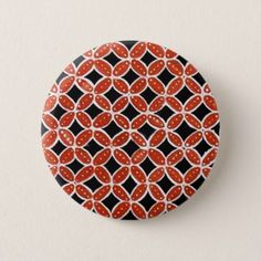 batik siti 02 pinback button - holidays diy custom design cyo holiday family