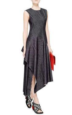 fdc1b969d09 Twisted Twill Denim Dress by Marni Now Available on Moda Operandi Платья С  Драпировкой