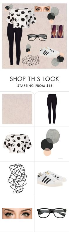 """""""Yin-Yang"""" by calfreezy ❤ liked on Polyvore featuring Être Cécile and adidas Originals"""
