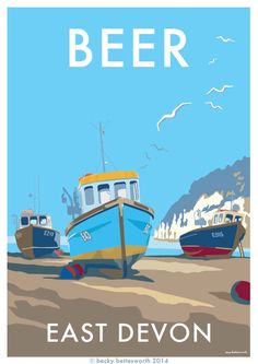 vintage style travel poster available at http://beckybettesworth.myshopify.com/