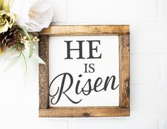 Easter Decorations | Easter Signs | Spring Wooden Decor | Farmhouse Easter Decorations | He is Risen | Holly Week Decor