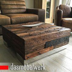 Treibholz Massivholz Recycling Holz Antik Look Beistelltisch Couchtisch 120 cm