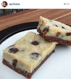 Raw, No Bake Chocolate Chip Cookie Dough Brownie - Living Healthy With Chocolate: Paleo and Gluten-free dessert recipes