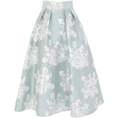 Coast Rita Skirt (395 BRL) ❤ liked on Polyvore featuring skirts, bottoms, greens, metallic skirts, metallic pleated skirt, green pleated skirt, green skirt and vintage midi skirt