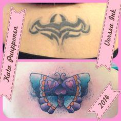 https://www.facebook.com/VorssaInk, http://tattoosbykata.blogspot.fi, #tattoo #tatuointi #katapuupponen #vorssaink #forssa #finland #traditionaltattoo #suomi #oldschool #coverup #butterfly