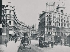 Heyday: A photo of Holborn Circus taken around 1890. The London landmark is among the ten most threatened Victorian and Edwardian buildings according to a list by the Victorian Society