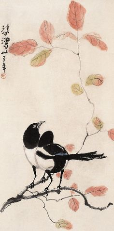 Xu Beihong's Magpies | Chinese Painting | China Online Museum
