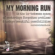 Health Motivation My morning run is the in-between space of yeserdays forgotten problems Fitness Motivation, Running Motivation, Fitness Quotes, Marathon Motivation, I Love To Run, Just Run, Keep Running, Running Tips, Running Track
