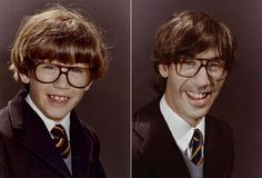 What a cool idea, have people recreate childhood photos