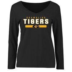 Grambling Tigers Women's Team Strong Long Sleeve Slim Fit T-Shirt - Black