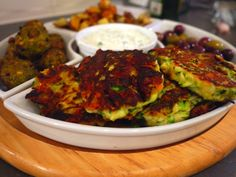 Hef's kitchen: Spicy Courgette Fritters with Lime and Coriander Tzatziki