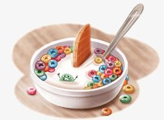 Vector cereal, Oatmeal, Breakfast, Cartoon PNG and Vector